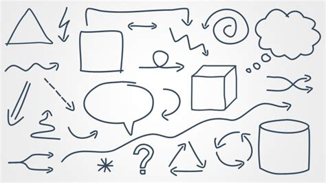 free doodle ppt template sketched shapes for powerpoint shapechef