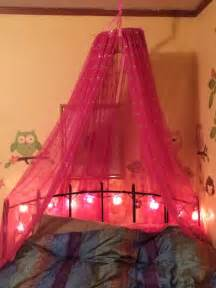 Diy Bed Canopy With Hoop Diy Bed Canopy For A You Need 1 Large Embroidery Hoop I Used 24 Quot Sheer Curtain Panels