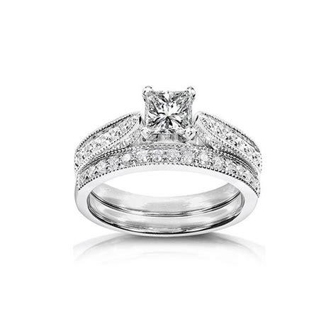 inexpensive antique wedding ring set on 10k white
