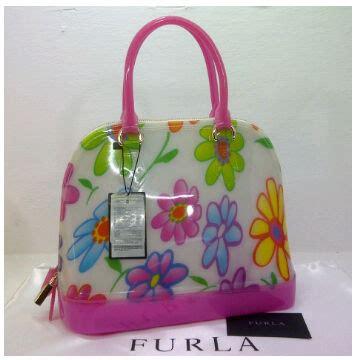 Furla Jelly Alma Merah Dan Pink tas furla alma jelly flower semi ori toko brand
