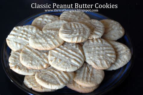 thricethespice classic peanut butter cookies