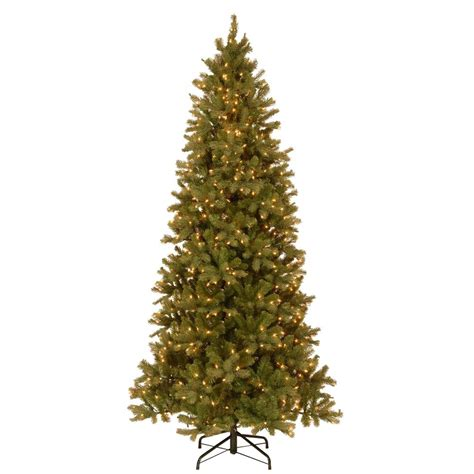 home depot 9 foot douglas fir artificial treee national tree company 9 ft feel real swept douglas slim fir hinged artificial