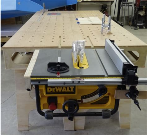 how to build a table saw bench work bench table saw mounting kit onshoring ventures