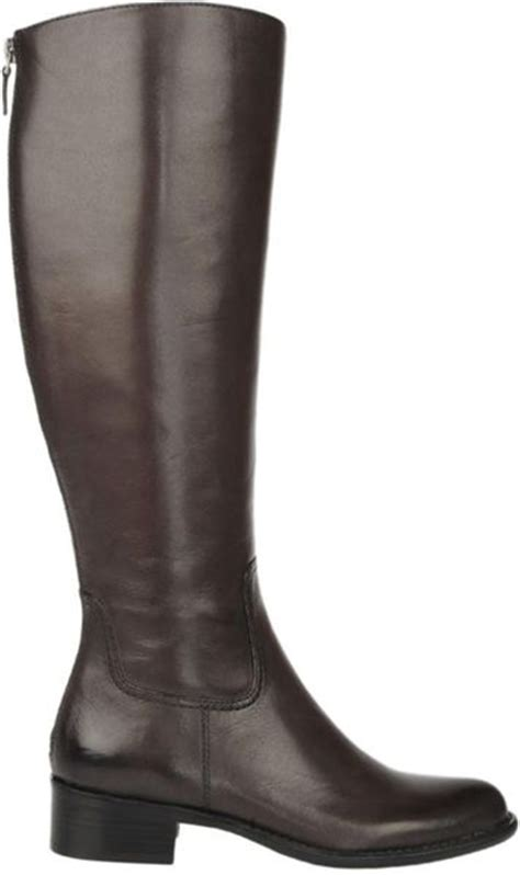 franco sarto leather boots in brown chocolate