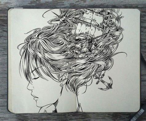 dessin bateau noir les dessins noir et blanc incroyables au crayon et au