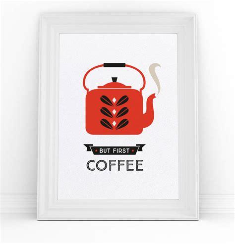 coffee print scandinavian kitchen a4 poster by danby