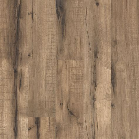 shop style selections 5 43 in w x 3 976 ft l pecan handscraped laminate wood planks at lowes com