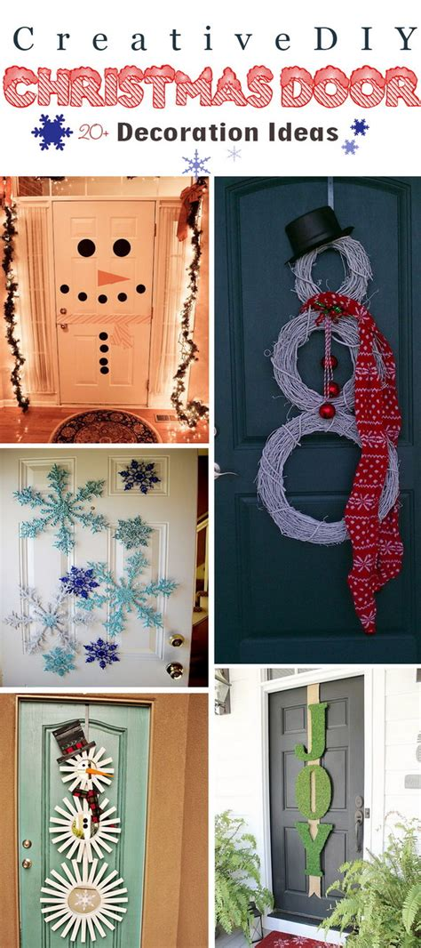 diy door decor 20 creative diy christmas door decoration ideas