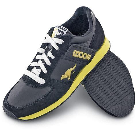 kangaroo shoes kangaroo 174 athletic shoes black yellow 99557 running