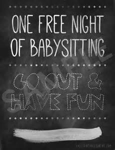 one free night of babysitting free printables online