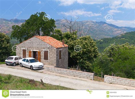 Stone House Near Mountain Road. Zerubia Stock Image