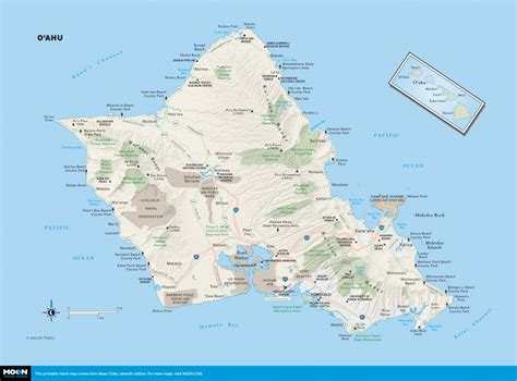 printable map honolulu printable travel maps of o ahu moon travel guides
