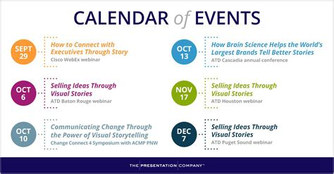 Events To Calendar Visual Storytelling Events Fall Winter 2016