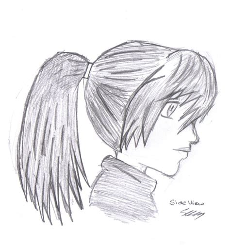 anime hairstyles side view manga girl side view by aeolianflame on deviantart