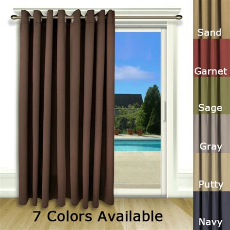 Patio Door Draperies Ultimate Blackout Patio Door Curtain Panel With Detachable Wand Handle