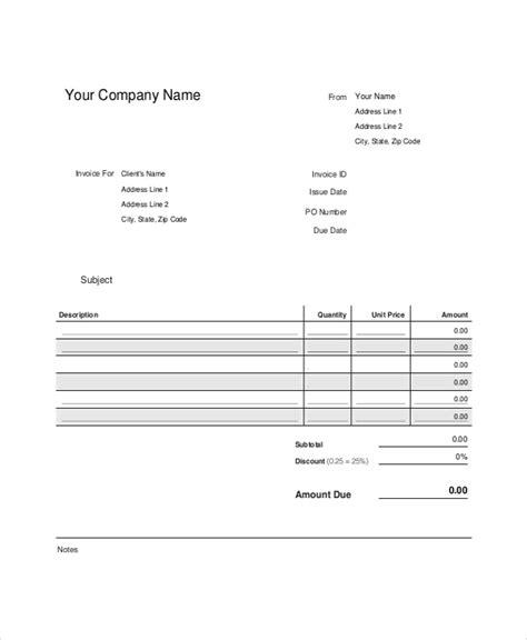 manual invoice template