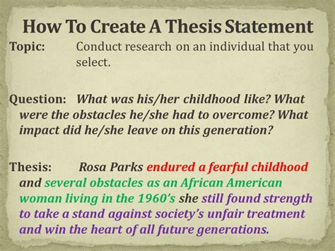 creating a thesis what is a thesis statement ppt
