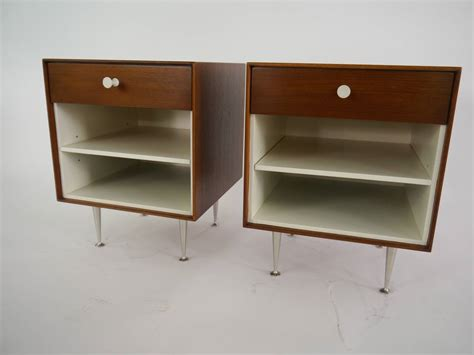 thin edge nightstands by george nelson for herman miller