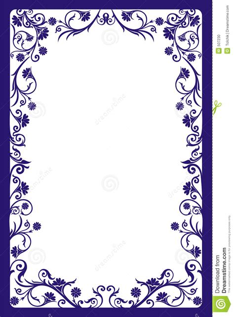 decorative frame vector stock photo image