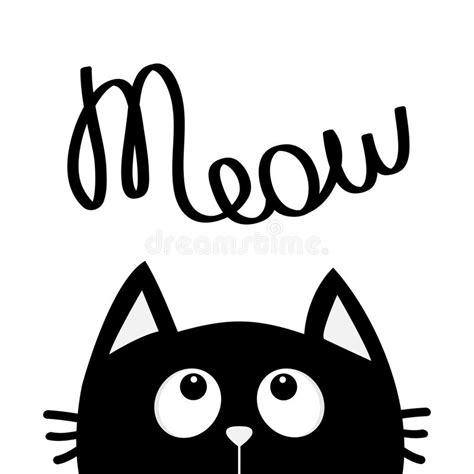 imagenes kawaii en blanco y negro gato negro que mira para arriba para meow texto de las