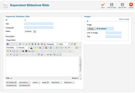 joomla component page wmt supersized slideshow free joomla component joomla