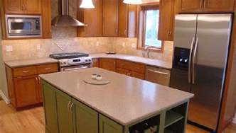 Corian Island Countertop Cherry With Custom Color Painted Island And Corian Countertops