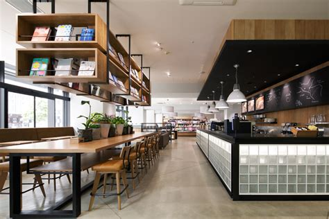 coffee shop interior design book culfe book store and caf 233 by fan inc shizuoka japan cafe