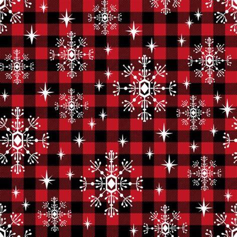 wallpaper christmas material buffalo plaid snowflakes winter christmas fabric