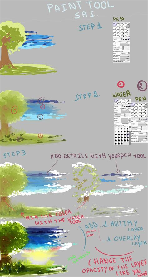 paint tool sai tutorial for beginners deviantart background tutorial with sai by kirimimi on deviantart