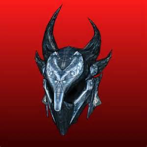 skyrim helmet template skyrim papercraft daedric armor helmet