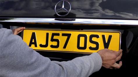 pressed metal number plates review  embossed uk car