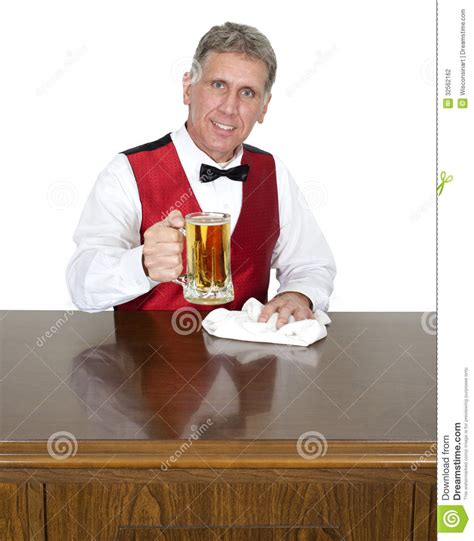 bartender photography bartender tending bar serving beer isolated stock