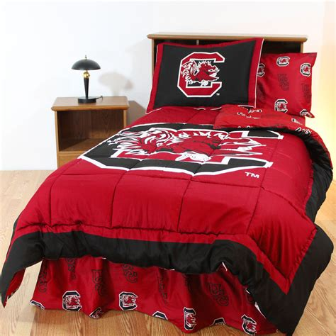 red bed set ncaa south carolina bedding set king size 7pc collegiate