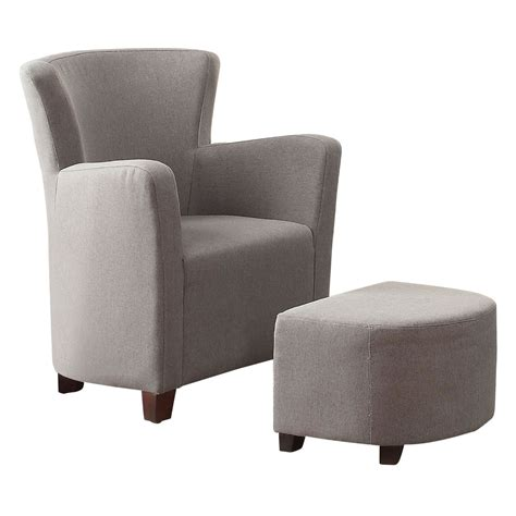 grey chair with ottoman whi elena club chair with ottoman grey disc 499 136gy