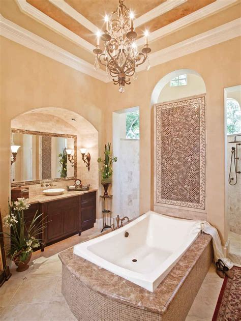 Traditional Bathroom Designs Pictures Ideas From Hgtv 20 Luxurious Bathrooms With Chandelier Lighting