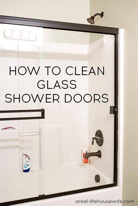 How To Remove Soap Scum From Shower Door Organization Bathroom Cleaning Hacks