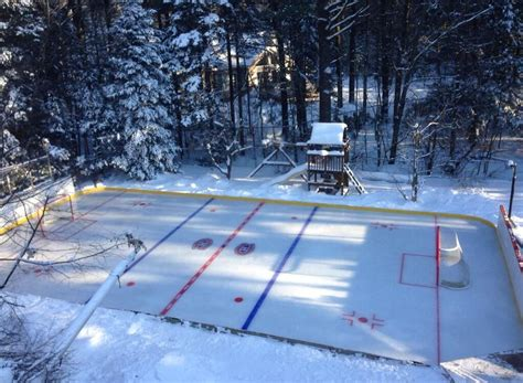 backyard ice rinks epic backyard hockey rink includes golf cart zamboni