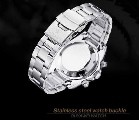 Jam Tangan Dimension Rt Silver White ouyawei jam tangan mechanical oyw1329 white silver jakartanotebook