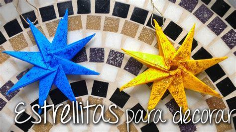 estrellas de navidad de papel para decorar nuesto arbol de
