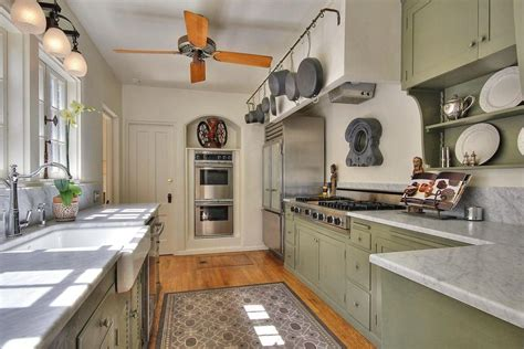 country galley kitchen country kitchen with complex marble wall sconce in santa