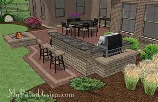 Designs For Small Kitchens large courtyard brick patio design with outdoor kitchen