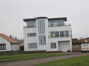art deco homes art deco house at beadnell 169 les hull geograph britain