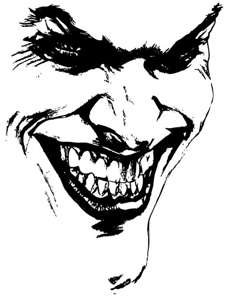joker face coloring pages evil joker face drawings images