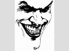 evil joker coloring pages