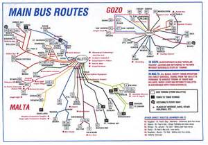 Via Bus Route Map by Bus Routes Maltese History Amp Heritage
