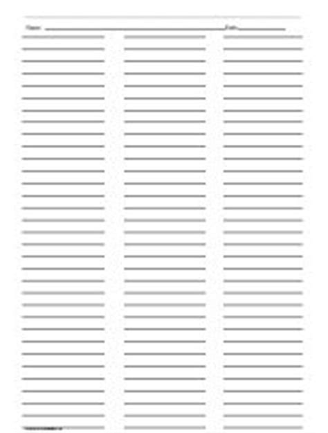 printable lined paper with 3 columns ruled paper with two columns printables lists