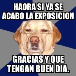 imagenes de memes que digan gracias meme perro racista haora si ya se acabo la exposicion
