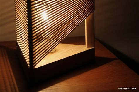 wooden lamp with elastic shades that can be formed as you