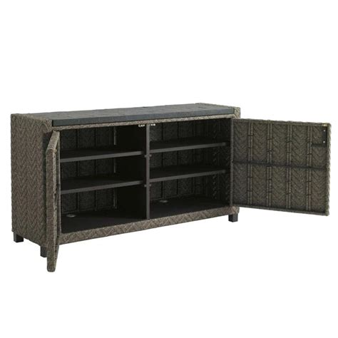 outdoor console table with storage outdoor wicker console table all weather sideboard patio