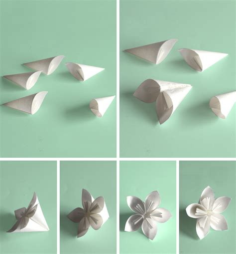 How To Fold Paper Flowers Step By Step - step by step kusudama flower